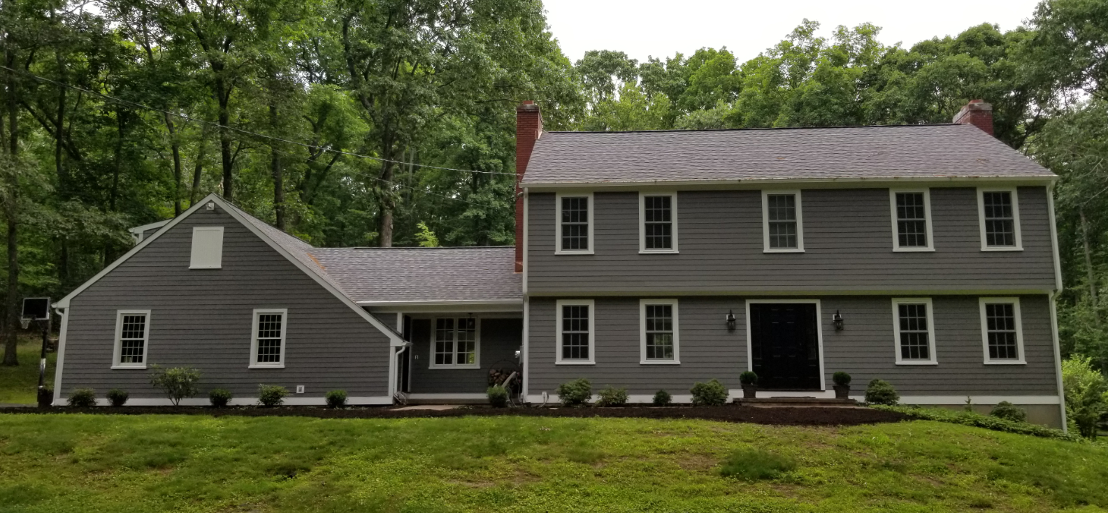 After Low-Maintenance Exterior Makeover in Woodbridge, CT