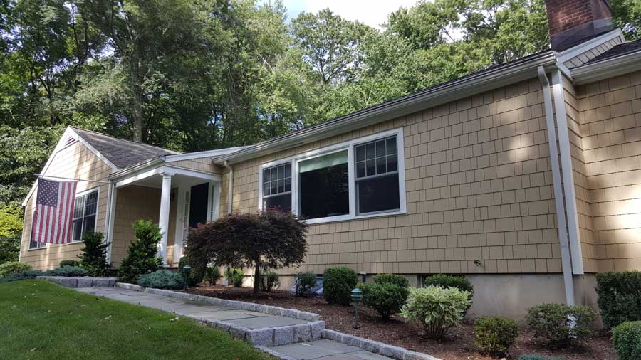 Before Low Maintenance Shingle in Wilton, CT