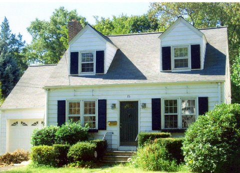 Before Cedar Siding & CertainTeed Roof Replacement in Old Greenwich, CT