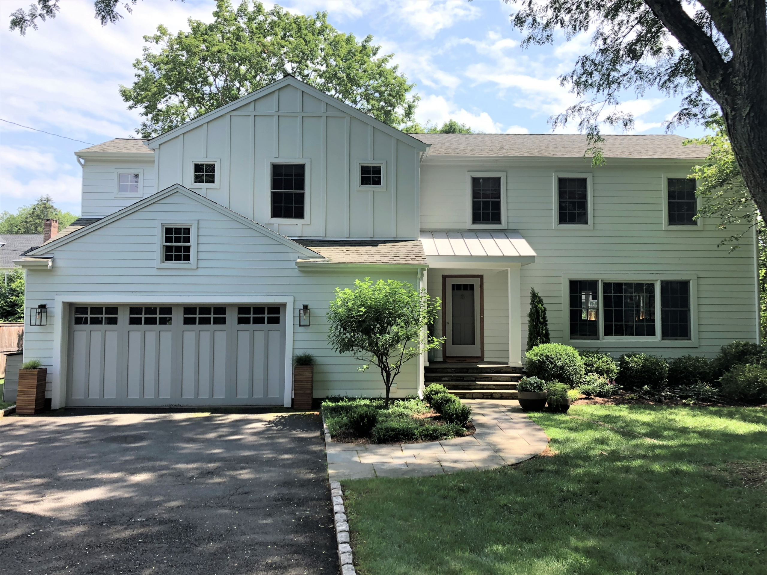 After Siding Installation & Portico Build in Westport, CT
