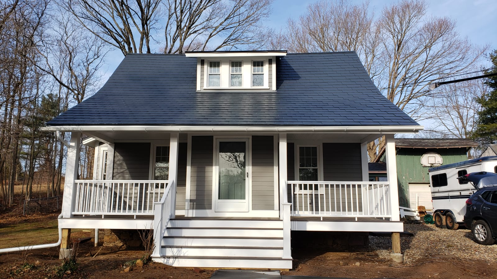 After James Hardie Installation & Front Porch Remodel in Guilford, CT