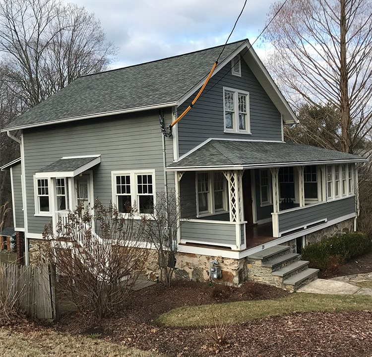 After Aged Pewter James Hardie Siding in Trumbull, CT